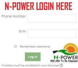 Npower Portal 2018/2019 Registration Form - www.npower.gov.ng login | www.npower-gov.com.ng